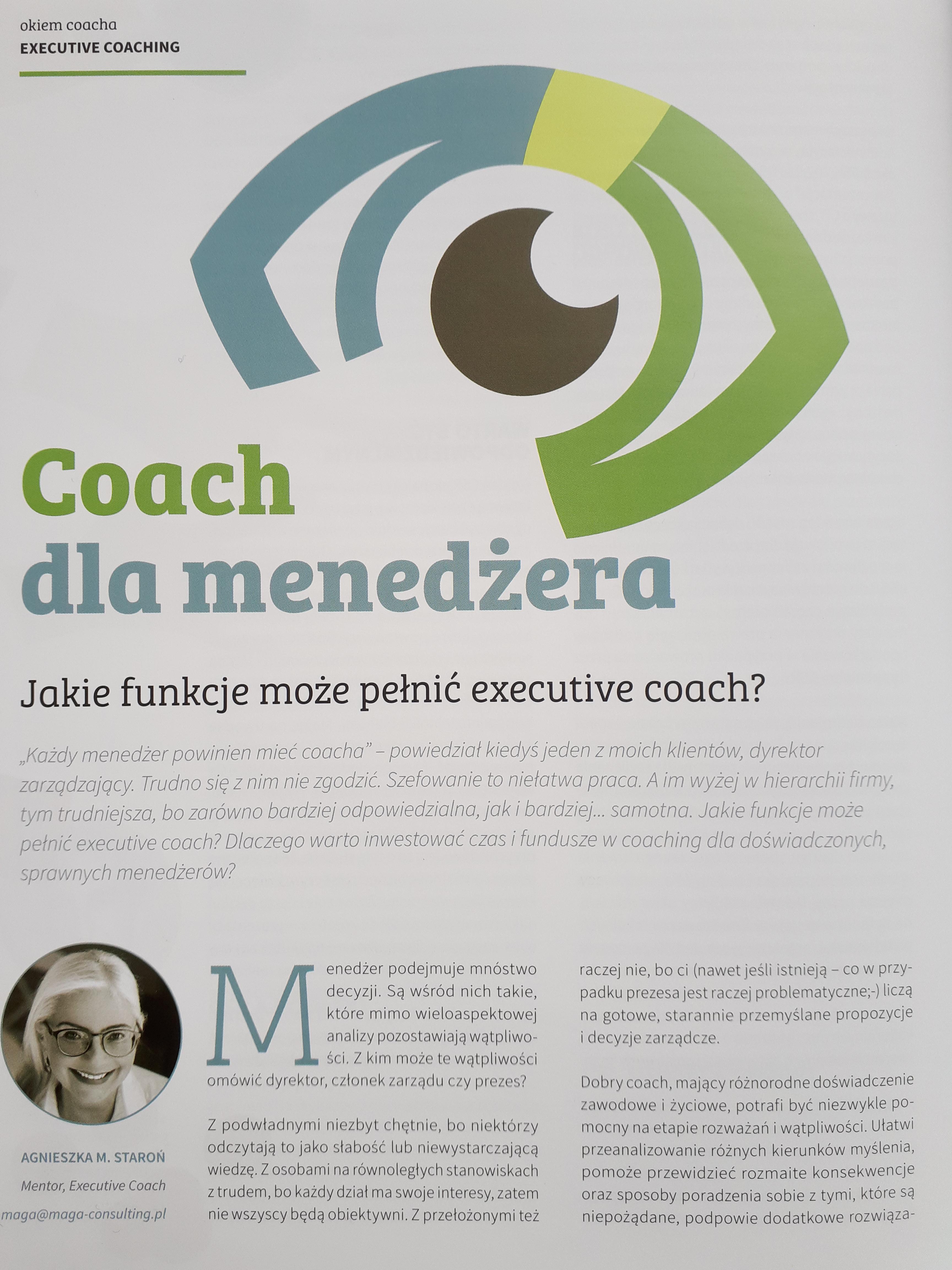 Po co doświadczonemu menedżerowi coach?